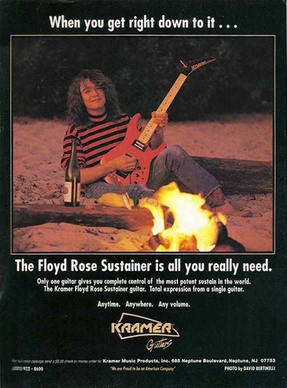 Kramer Ad Featuring Eddie Van Halen From 1990 Forgotten Guitar