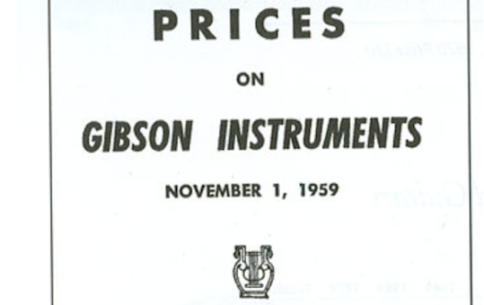 1959 Gibson Price List