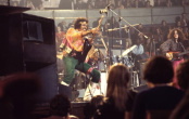 Jimi Hendrix on stage at the Royal Albert Hall