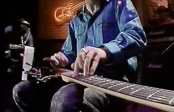 Jeff Healey with Stevie Ray Vaughan (off Camera) in 1987