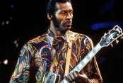 Chuck Berry live on stage in 1972