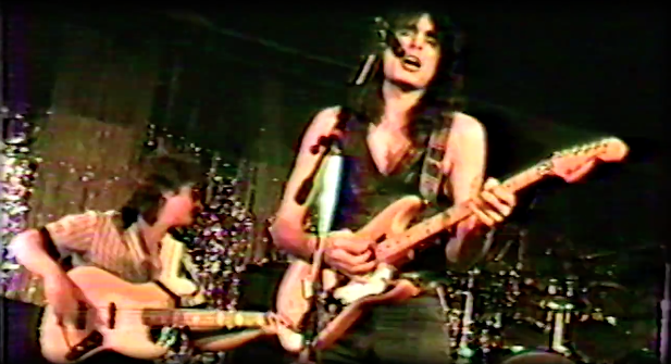 Steve Vai on stage in the 1980s